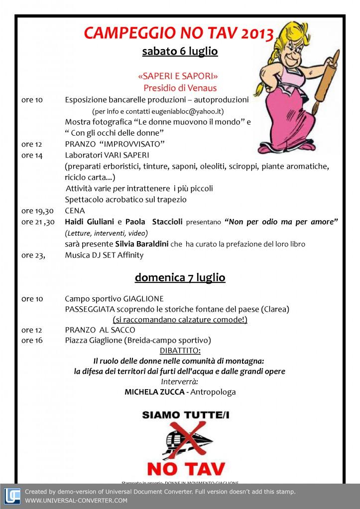CAMPEGGIO NO TAV 2013 - 6 e 7 luglio (1)