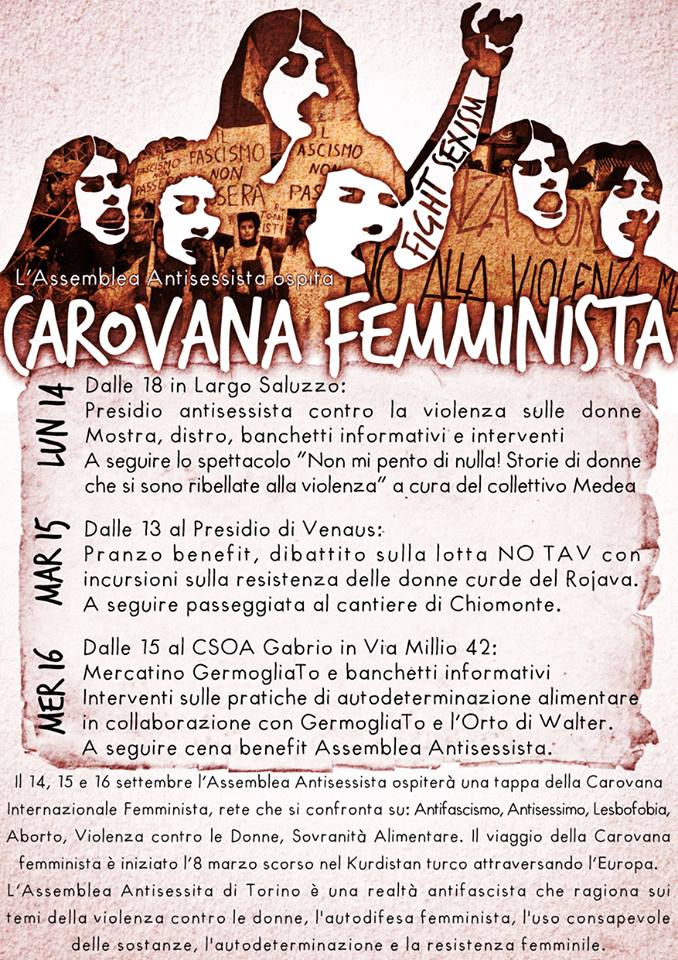 locandina carovana femminista